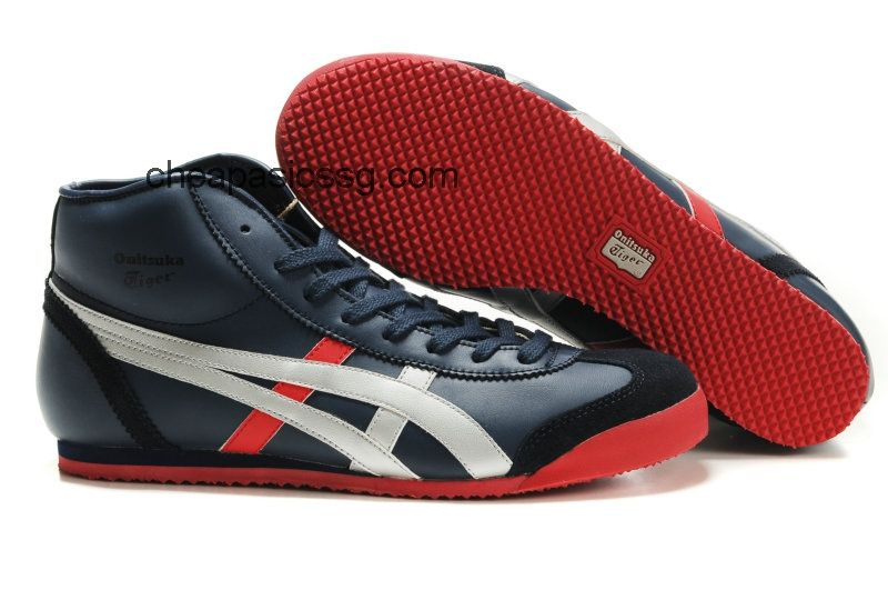 c74d1f1451efe Womens Mid Runner Shoes Dark Blue Sliver Red  onitsukatiger ...