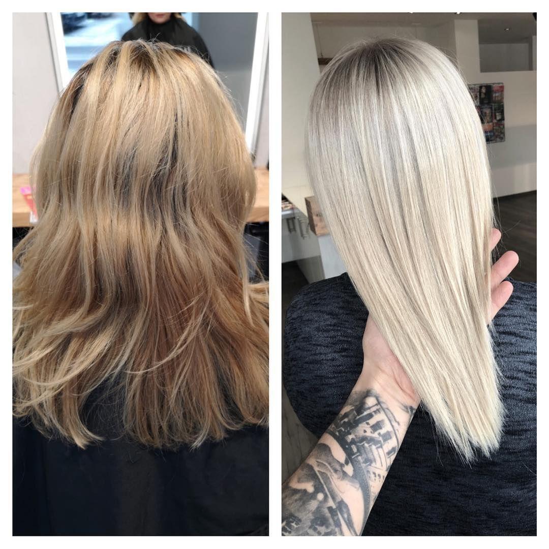 Vorhernachher Labiosthetiquecolor Balayageday Balayagehair Blonde Blondhair Colorgloss Labiosthetiqueparis Blondexper Balayage Hair Blonde Hair Blonde