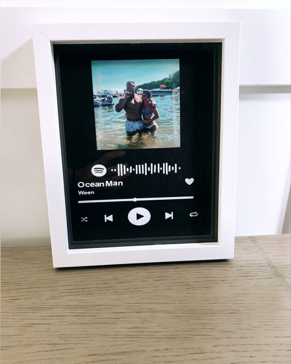 Spotify frame with scannable code Etsy in 2020 Diy