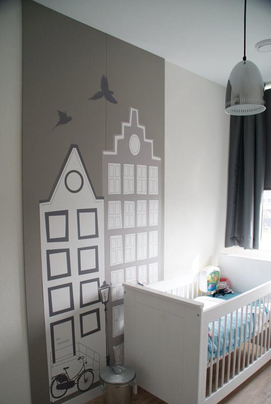 Grijs Behang Babykamer.Behang Huisjes Grijs In De Babykamer Inspiratie 2016 In 2019