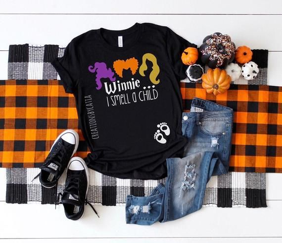 Winnie I Smell A Child, Halloween Pregnancy Announcement, Halloween Maternity Shirt, I Smell Childre