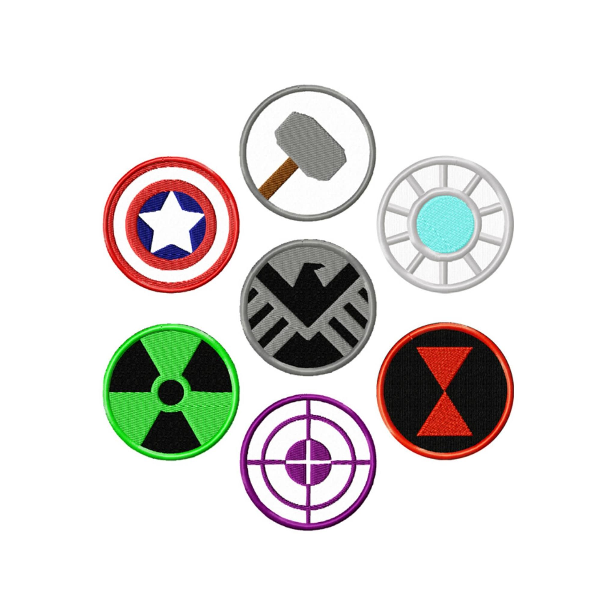 Superheroes marvel comics assorted pack embroidered