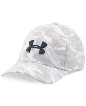 cc9096557cd Under Armour Men s Printed HeatGear Logo Hat - White L XL
