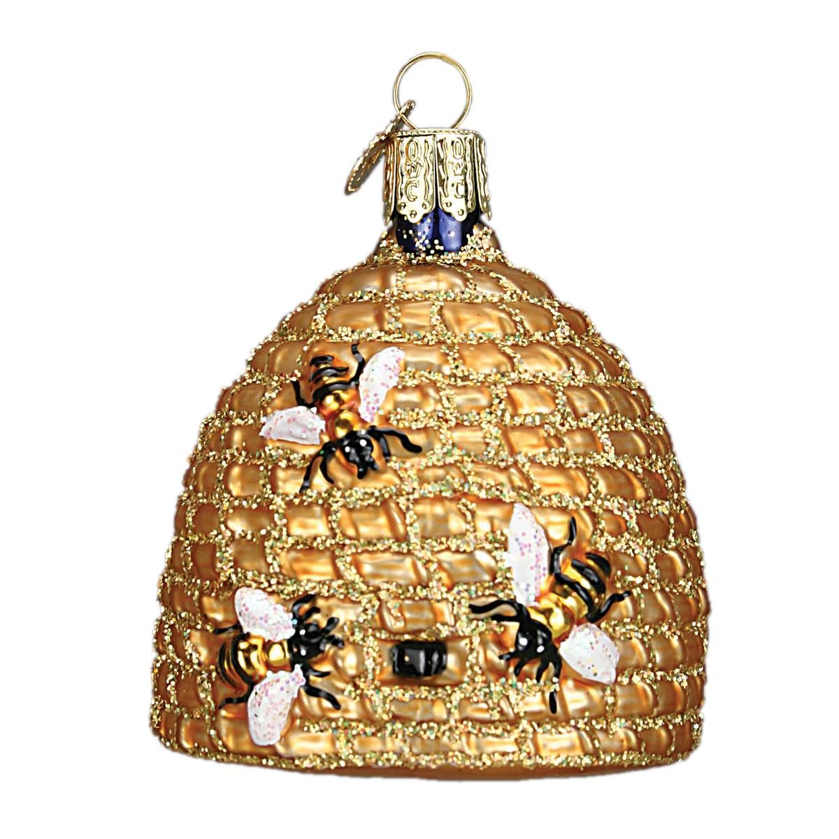Bee Skep Ornament Old world christmas ornaments, Bee