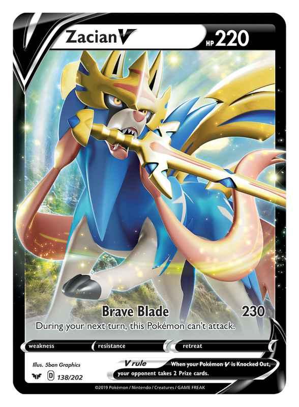 Pokemon Tcg Sword Shield First Info Card Designs Revealed Zacian V Zamazenta V Design Fu Cool Pokemon Cards Pokemon Cards Legendary Pokemon Trading Card
