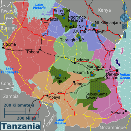 Tanzania Is The Largest Country In East Africa Bordered By Kenya - Largest country in africa