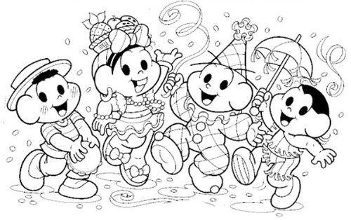 Desenhos De Carnaval Para Imprimir E Colorir Brinquedos De Papel