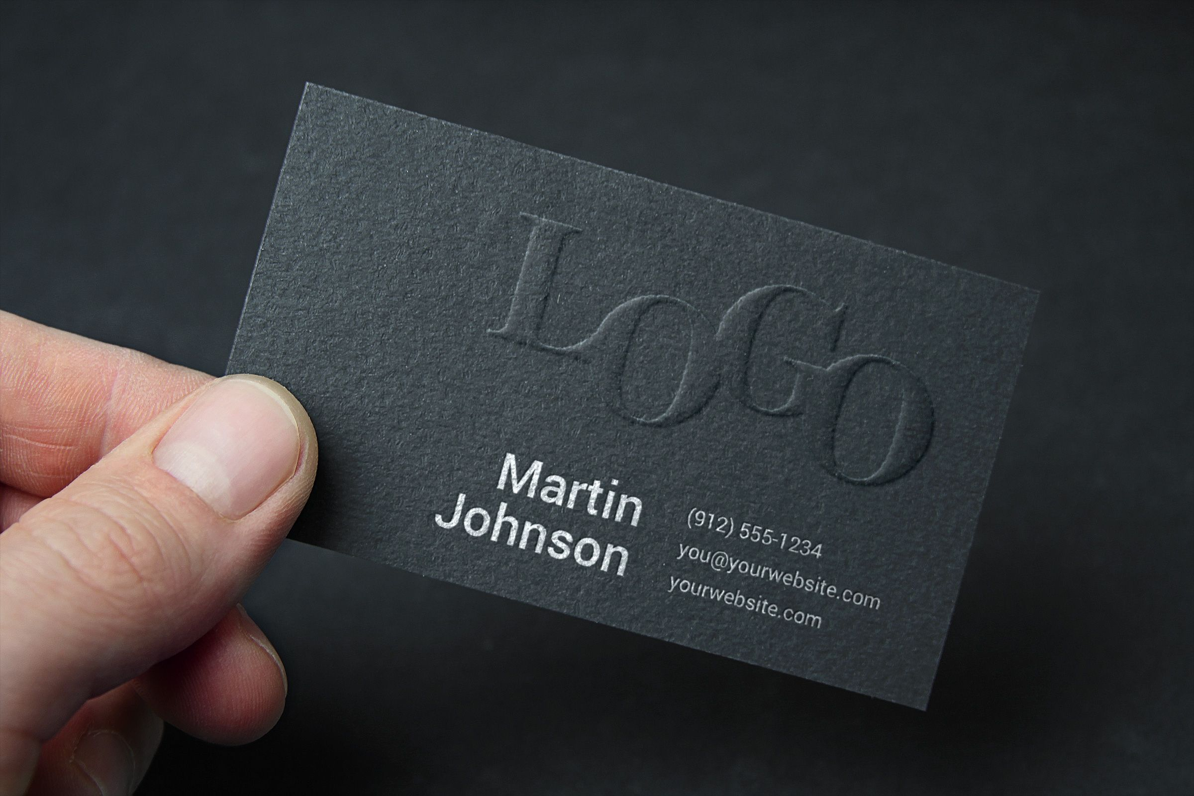embossed business card mockup free mockups print