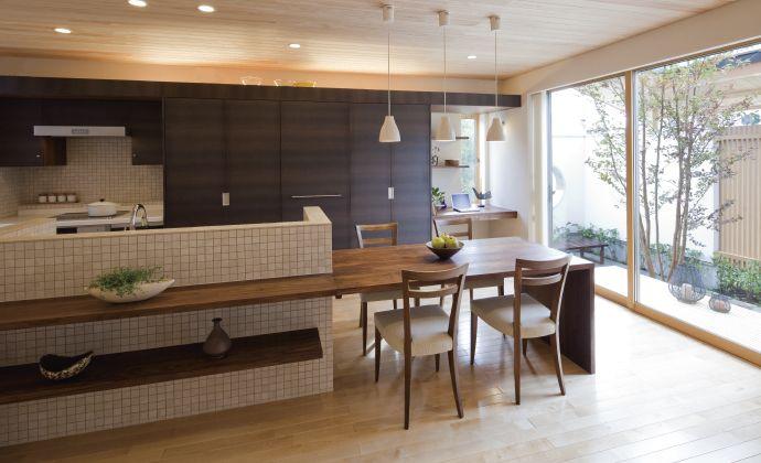憧れのひのき造りの家をあなたに リビング キッチン キッチン