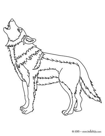 Howling Wolf Coloring Page More Forest Animals Coloring Sheets On Hellokids Com Wolf Silhouette Animal Coloring Pages Coloring Pages