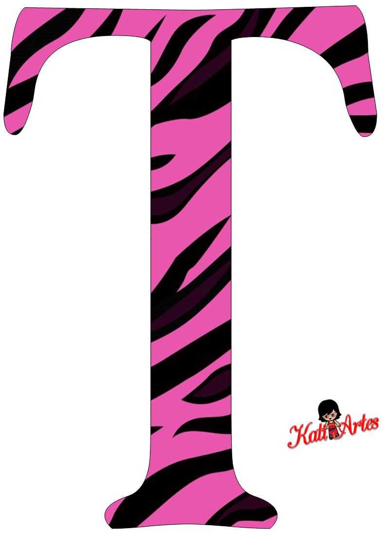 Pink Zebra Free Alphabet. Alfabeto Cebra Rosa. | ꧁The Letter T ...