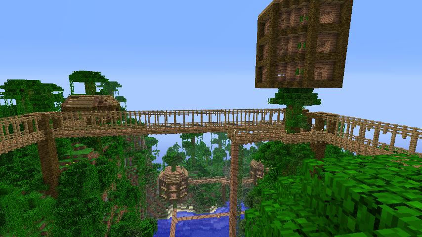 Minecraft Treehouse Village