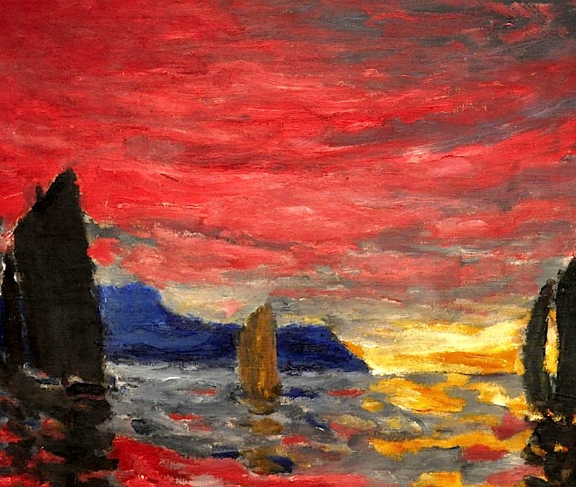 Red Evening Sky (1915) by Emil Nolde