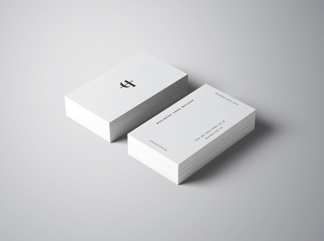 Perspective Business Card Mockup | 제품색채 | Pinterest | Business ...