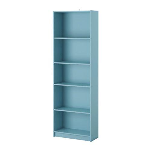 IKEA - FINNBY, Bücherregal, helltürkis, , Mit versetzbaren Böden für ...