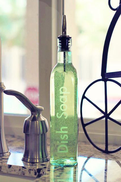 Etched Soap Bottle Old Glass Bottles Dish Soap Dispenser Olive