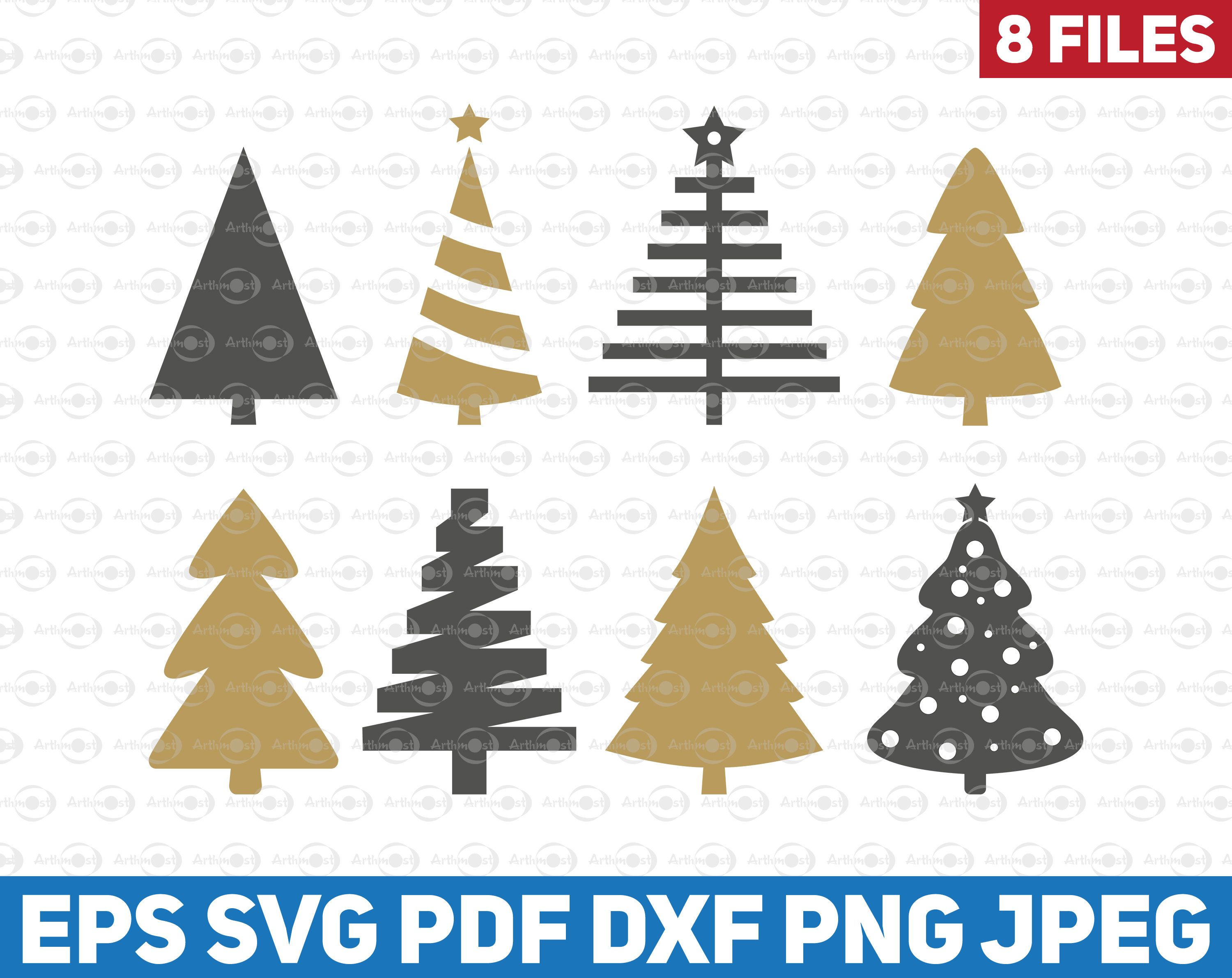 Christmas Trees Vector Clipart Svg Xmas Tree With Cutout Christmas Gift Stickers Christmas Trees Christmas Gift Sticker Pinterest Christmas Gifts Etsy Game