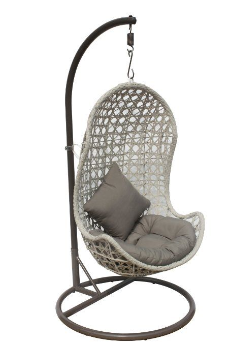 Amazon Com Indoor Outdoor Hanging Chair Complete With Stand Cushions And Pillows Patio Lawn Hanging Chair Outdoor Hanging Hammock Chair Hanging Swing Chair