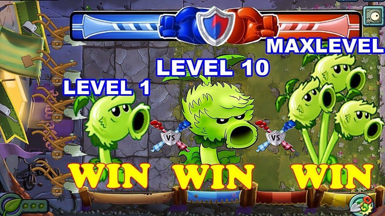 Plants Vs Zombies 2 Battlez Primal Peashooter Pvz 2 Level 1 10 Maxlevel Plants Vs Zombies Plant Zombie Zombie 2