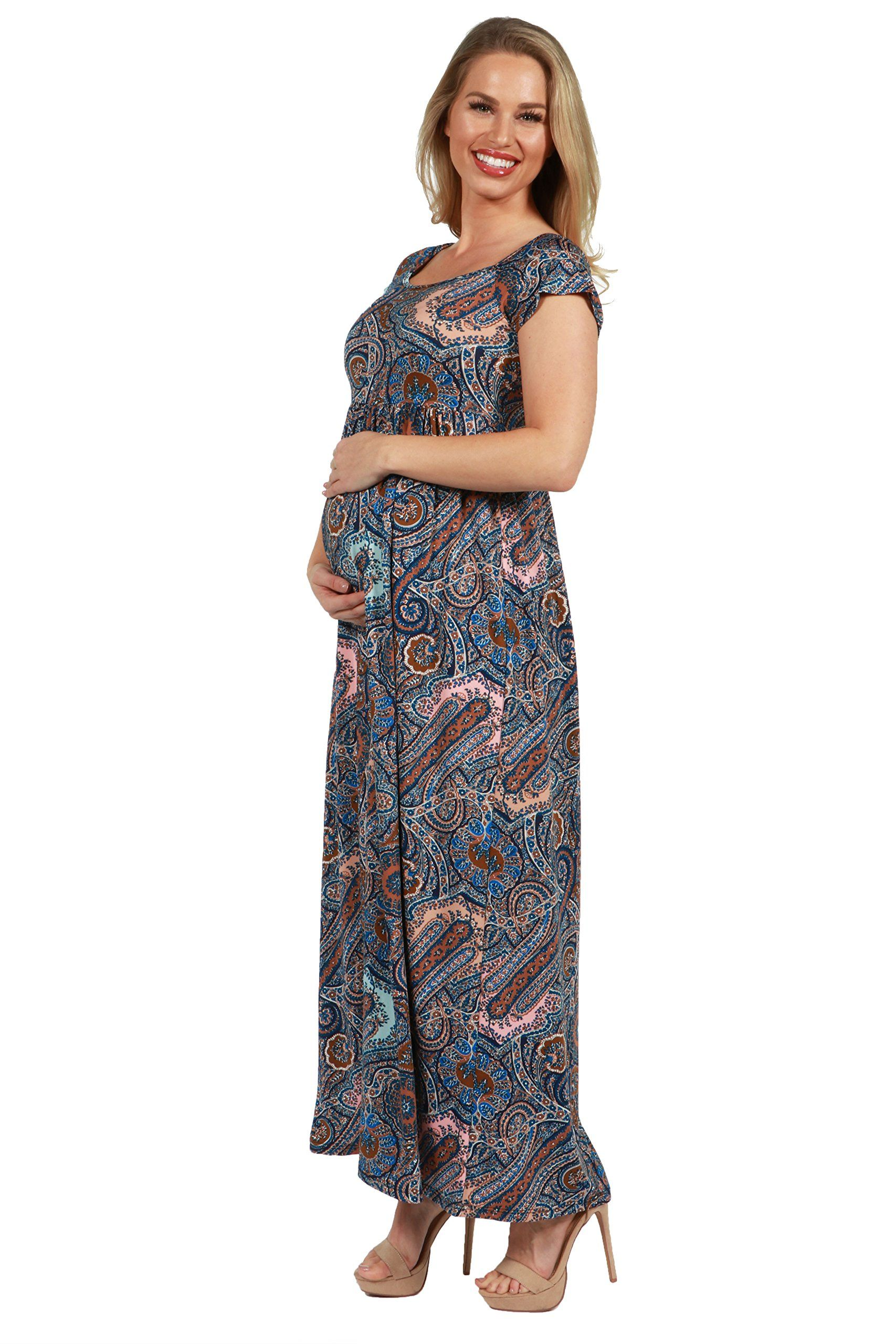 40933fe85c0cc Maternity Styles - best maternity dresses : 24/7 Comfort Apparel Maternity  Maxi Dress Emilia