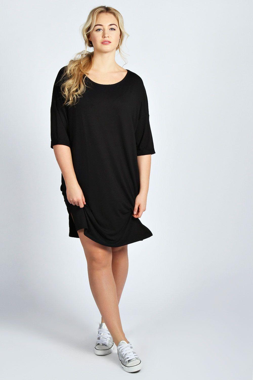 b65133cca2 boohoo Charlotte Oversized T-Shirt Dress - black