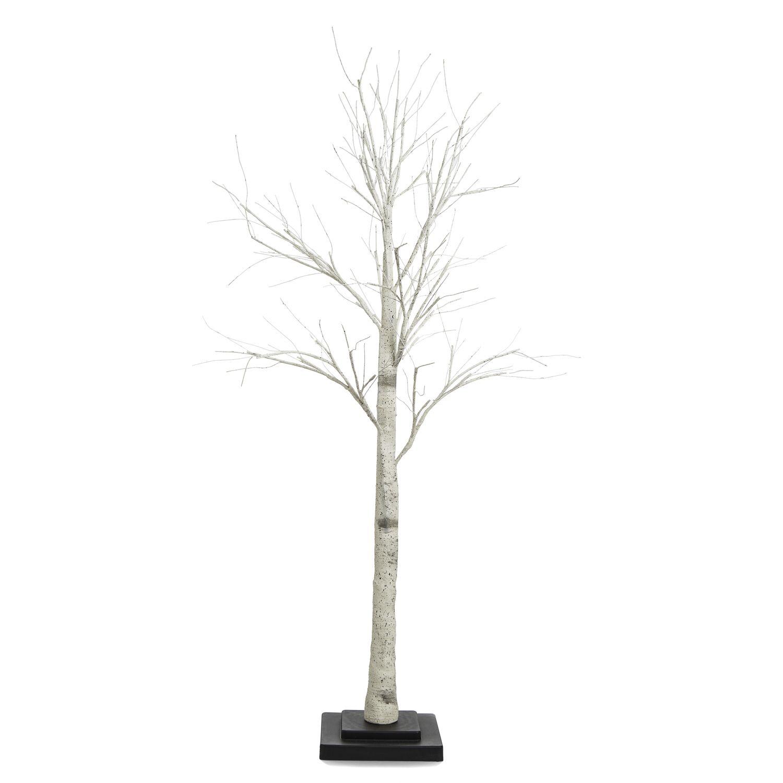 Warm White Led Birch Tree 4 5 Ft