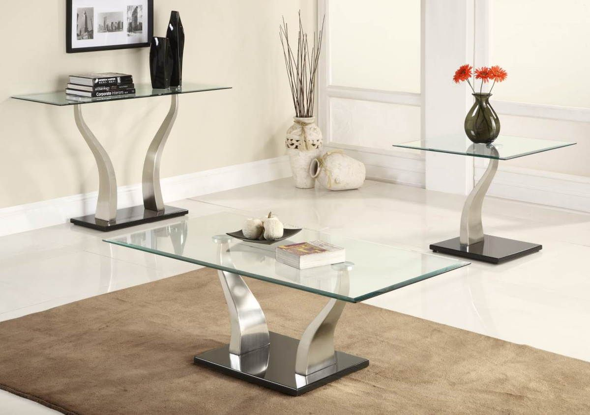 Home Elegance Atkins Chrome Sofa Table With Glass Top Coffee Table Setting Glass Top Coffee Table Modern Glass Coffee Table