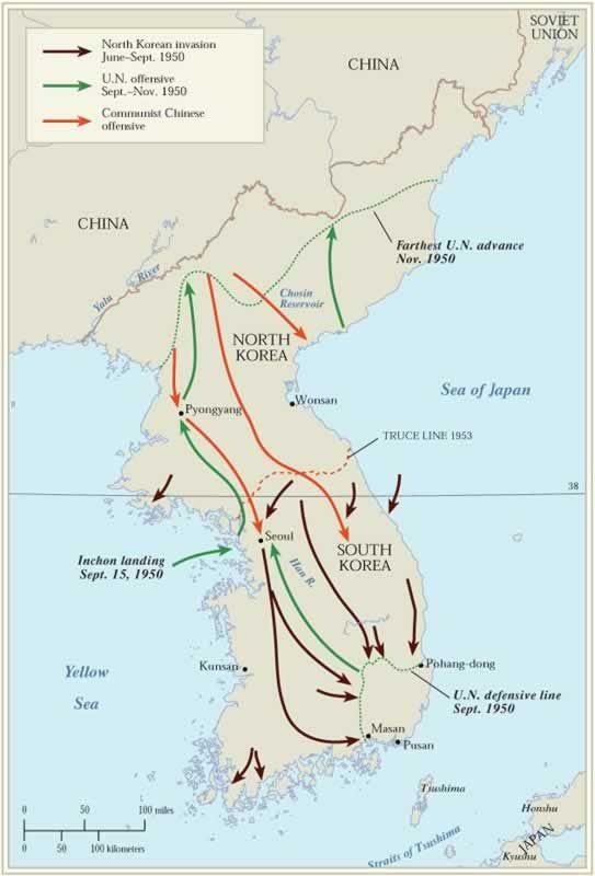 Major things in the Korean War?