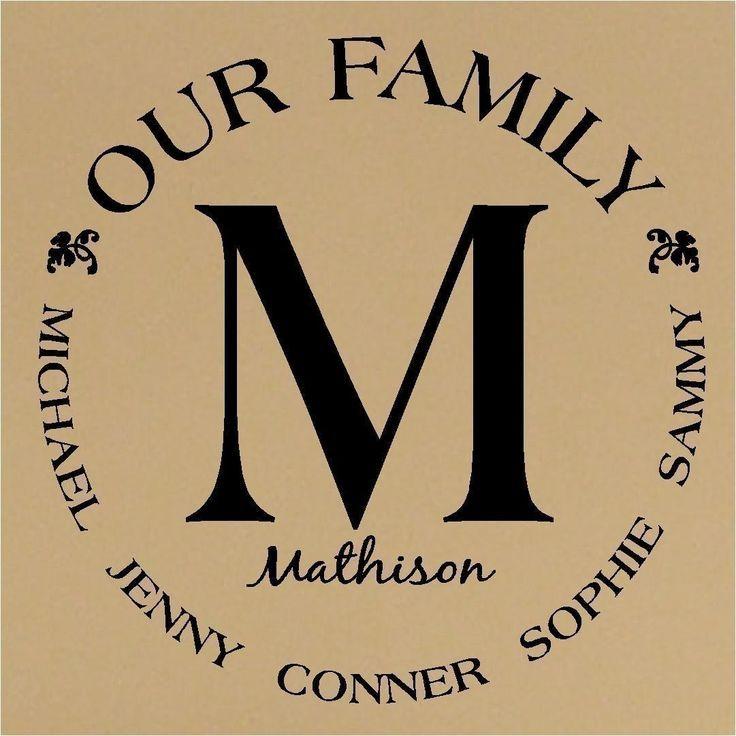 195062227581514445 Custom Our Family Monogram Circle Vinyl Lettering ...
