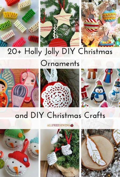 20 Holly Jolly DIY Christmas Ornaments and DIY Christmas Crafts