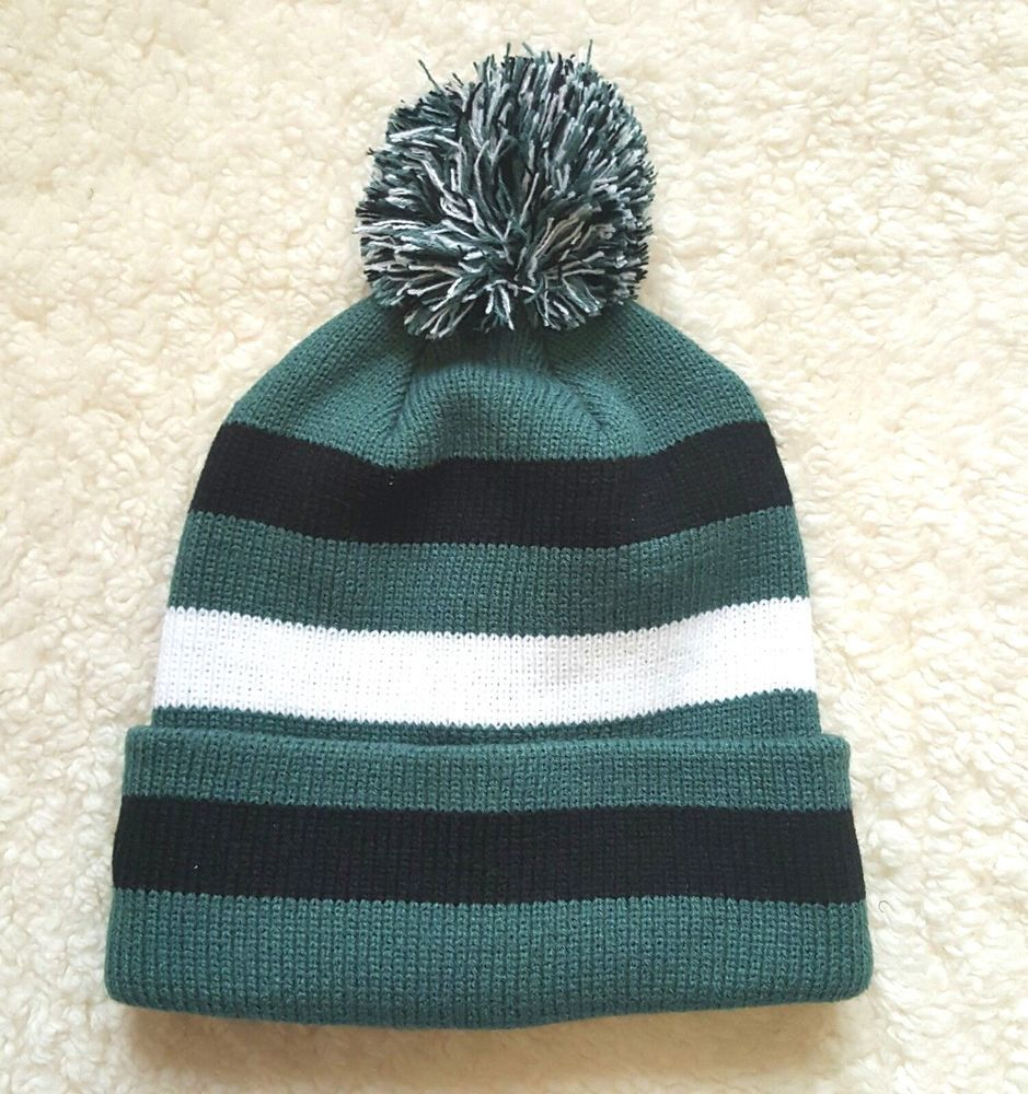 Philadelphia Eagles Colors Pom Pom Beanie Hat Unisex Adult Mens Womens NEW   winter  hat  fall  beanie  cap  hat  philly  PhiladelphiaEagles a39e02be0
