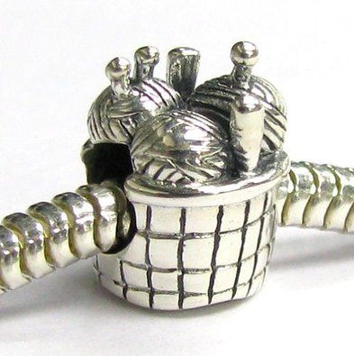 925 Sterling Silver Knitting Wool Ball Bead For European Charm Bracelet 05yXV2