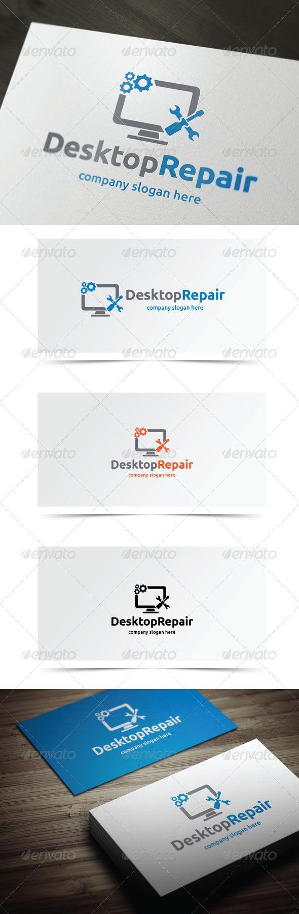 Desktop Repair Logo templates, Vector logo, Logo design
