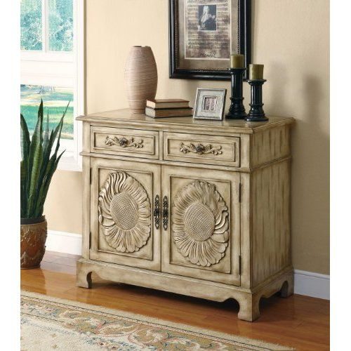 Large Foyer Cabinet : Amazon accent cabinet with large detailed floral
