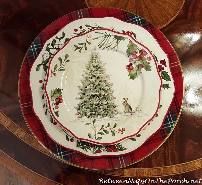 Williams Sonoma Tartan Plaid Charger Better Homes U0026 Garden Christmas  Dishware
