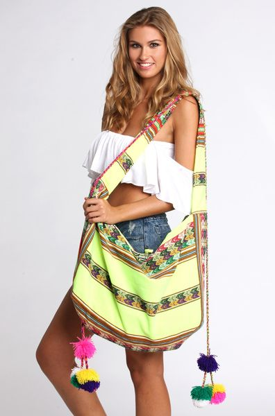 Pitusa Inca Beach Bag in Lemon | *that new new | Pinterest | Beach ...