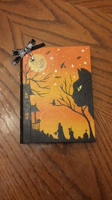 Halloween Book Box with Cat Necklace by ScarahStore on Etsy