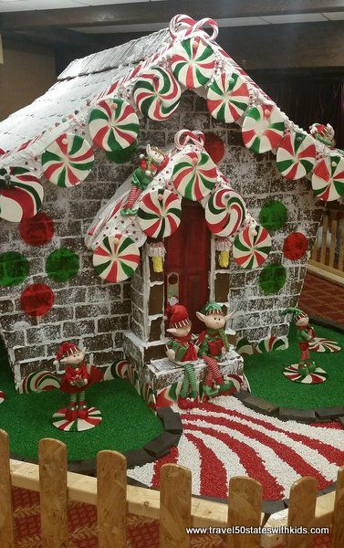 Giant Gingerbread House Galt Christmas Travel