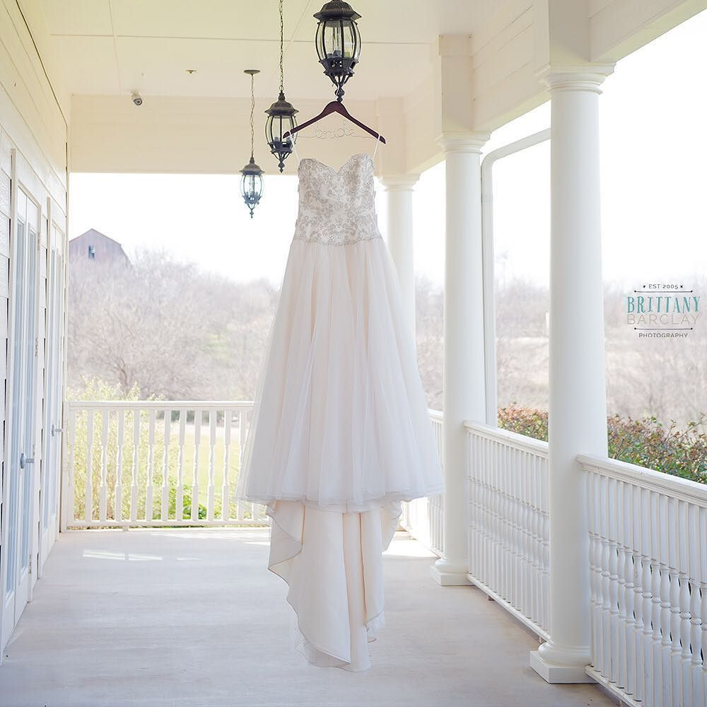 Cortney's great find of a wedding dress was exactly perfect for her!  #weddingdress