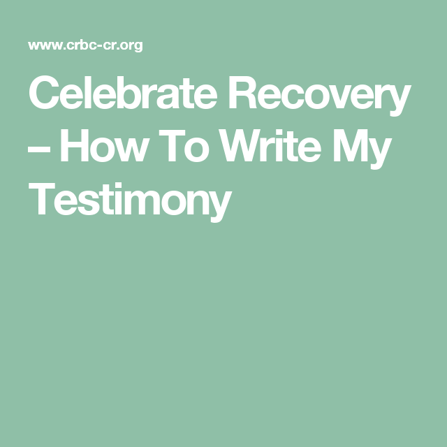 Pin On Celebrate Recovery