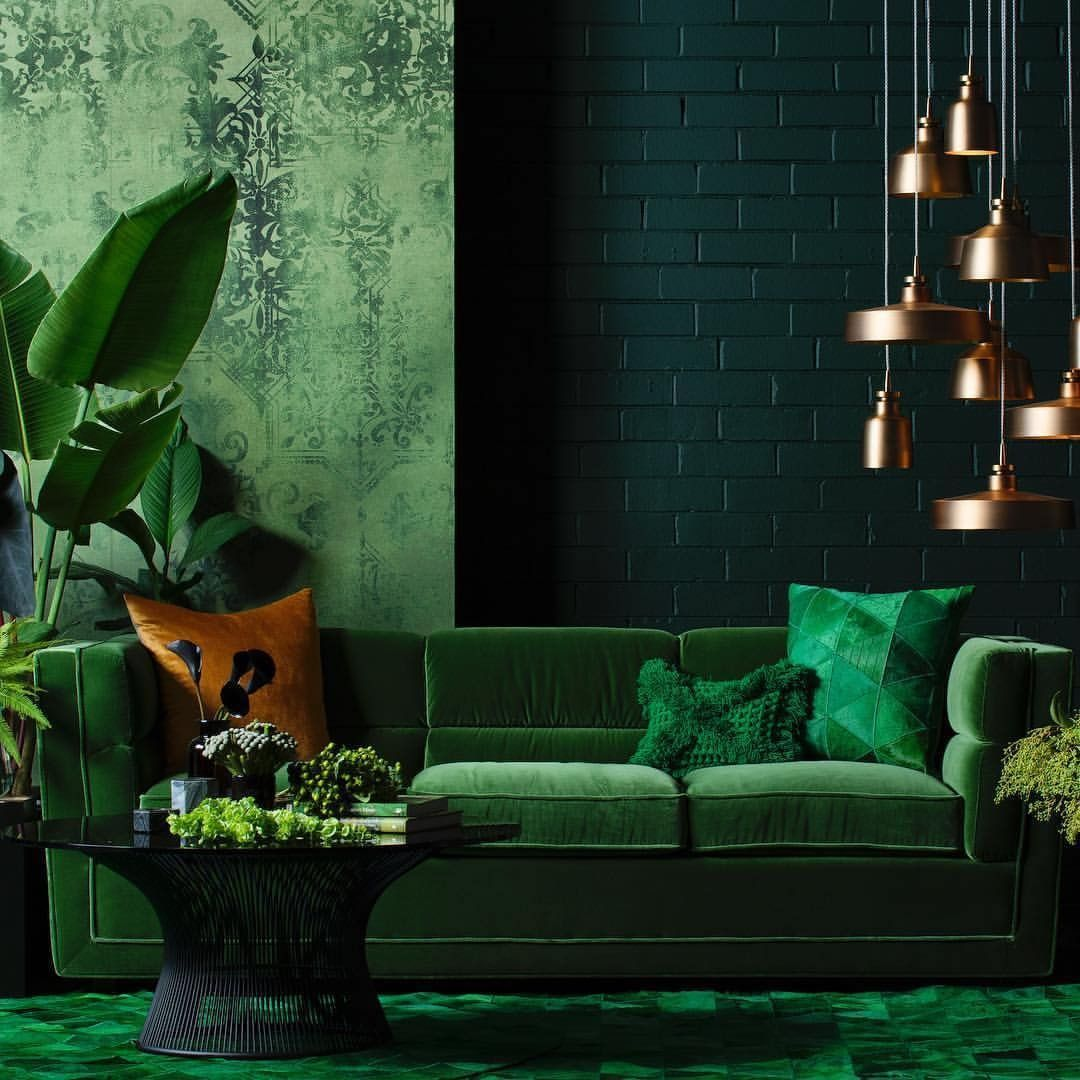 26 Relaxing Green Living Room Ideas: How Lush! #green . 📸via @embassy_home_outfitters