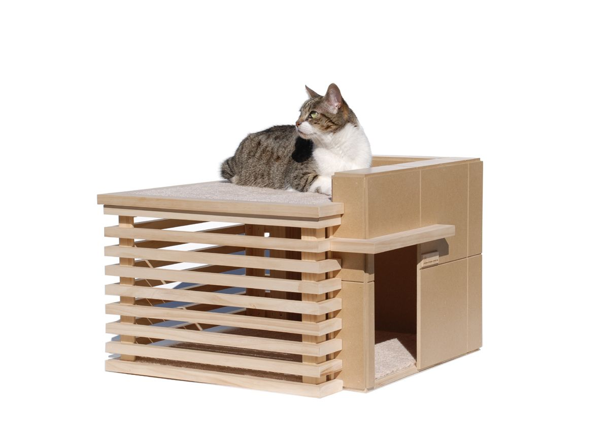 Architectura Modern Cat Condo or privacy screen design idea!