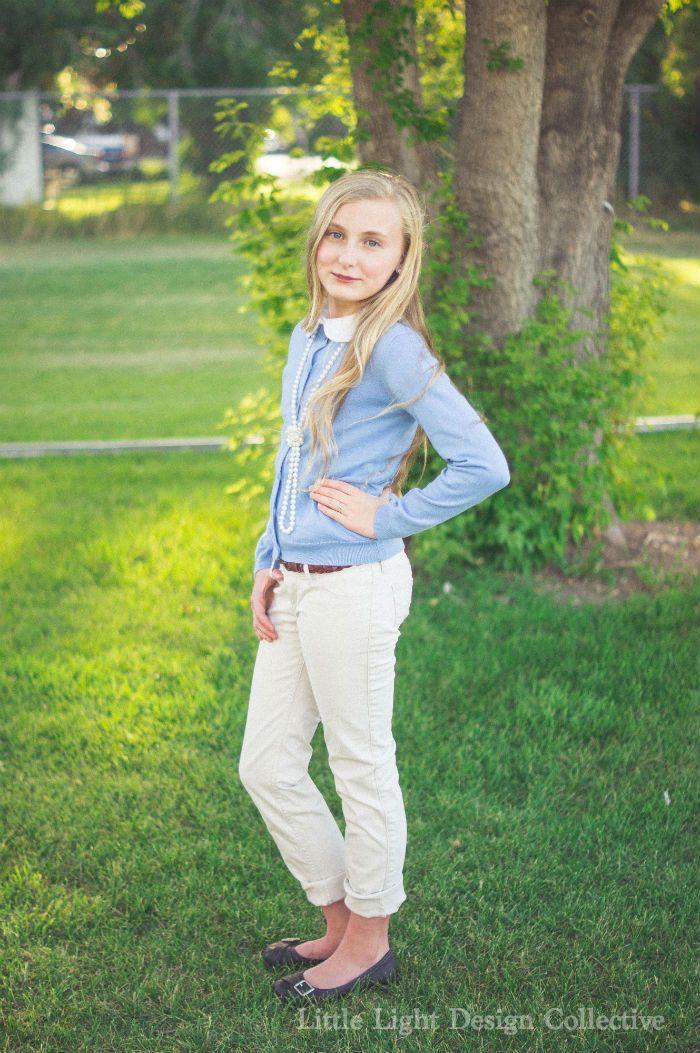 Classic Preppy Style  School Fashion, School Uniform -8175