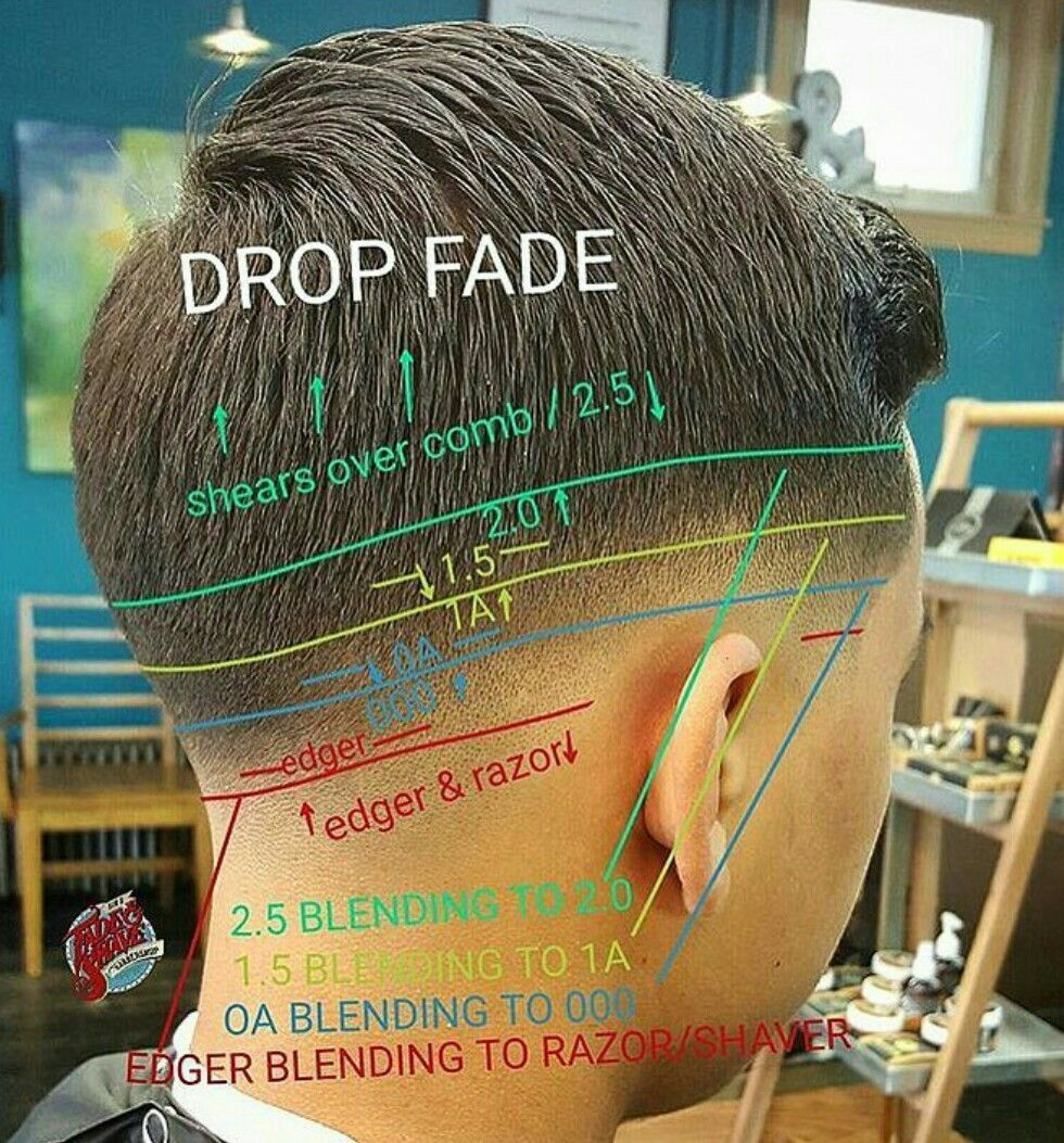 Mens haircut diagram drop fade  diagramas  pinterest  drop fade drop and haircuts