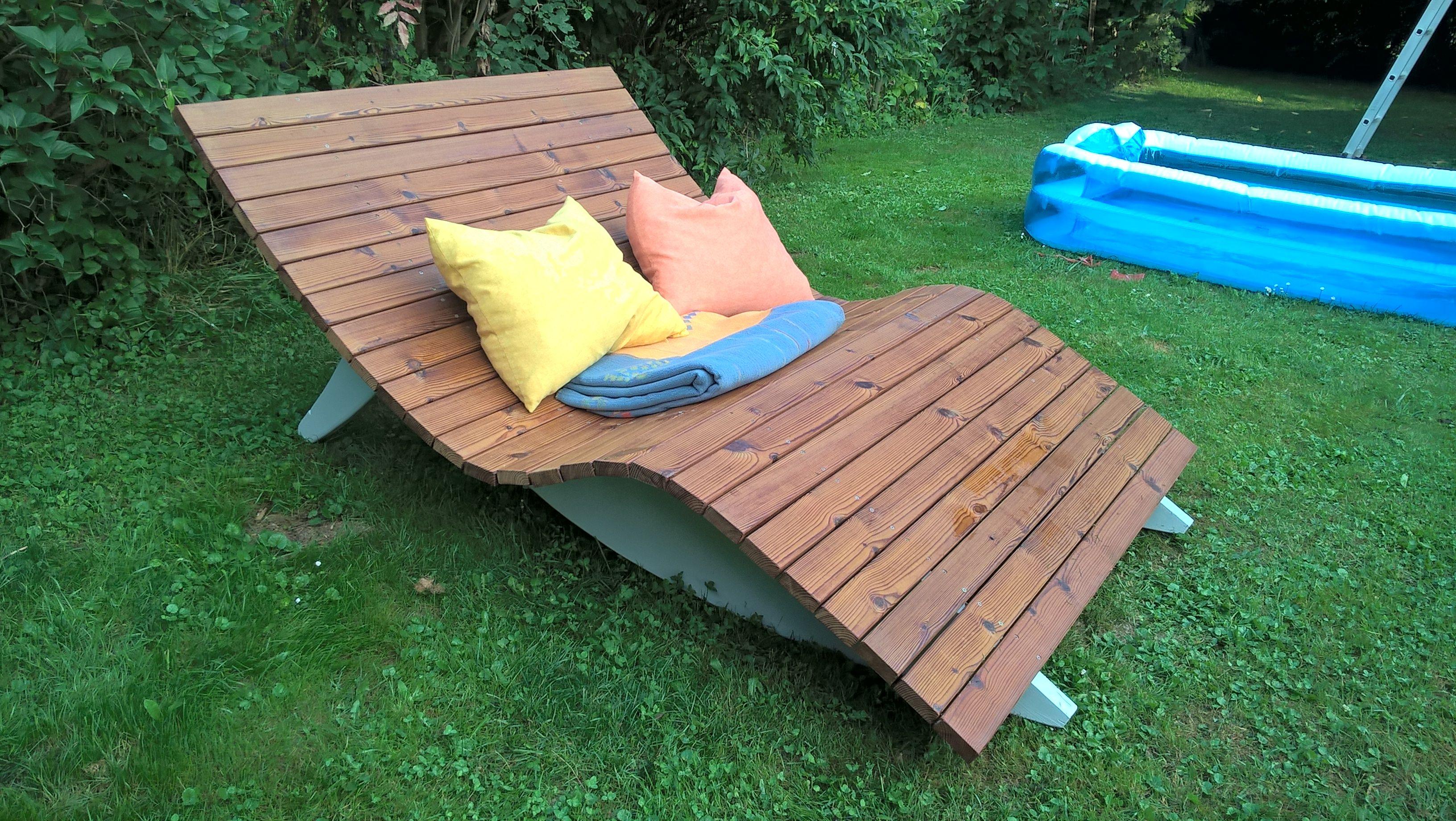 Relaxliege Für Zwei Recycling Terassenholz Bauanleitung Zum