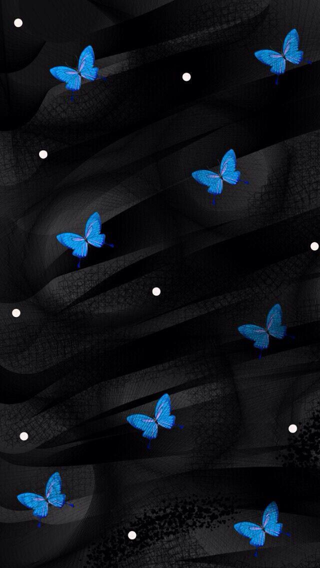 Butterfly Wallpaper Iphone Blue Butterfly Wallpaper Flower Phone Wallpaper