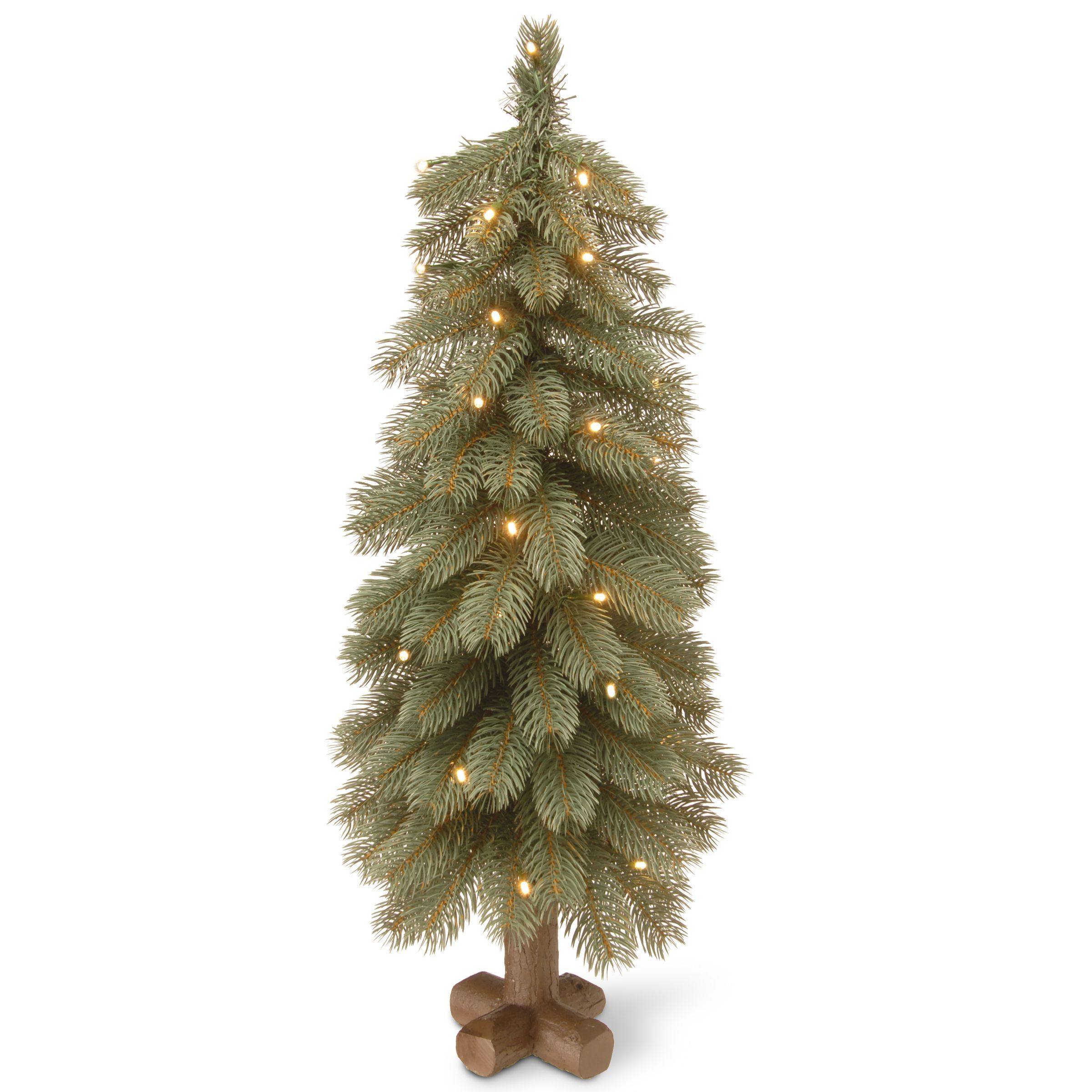 Bayberry Blue 30 inch Cedar Tree with Battery Operated LED Lights