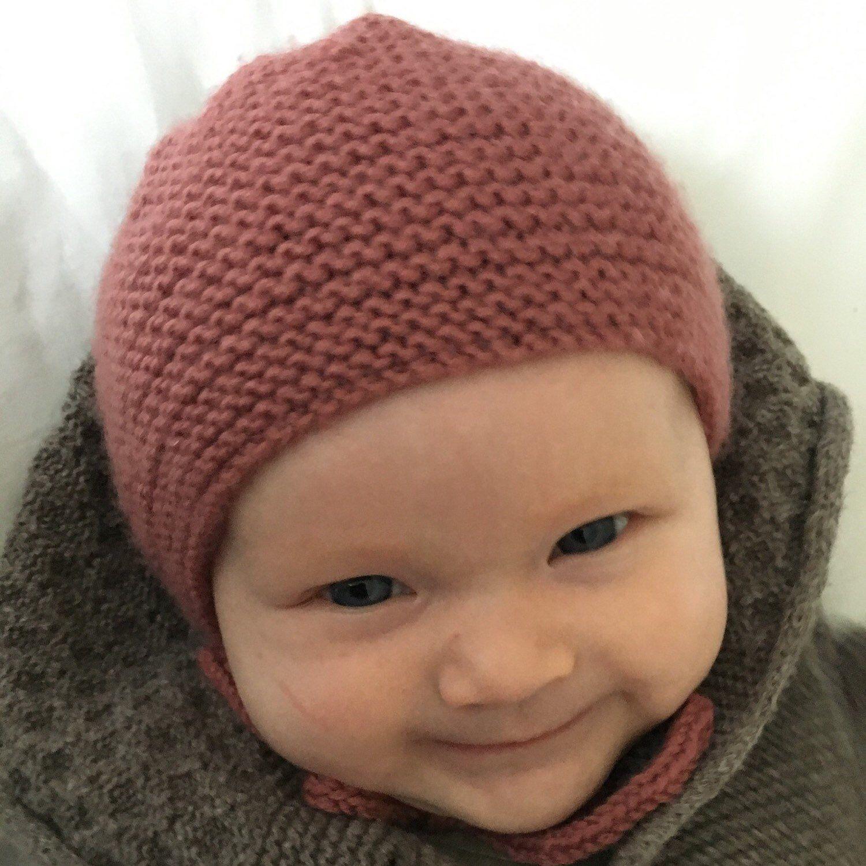 Modern Baby Bonnet Knitting Pattern - LONNIE | Baby hat ...