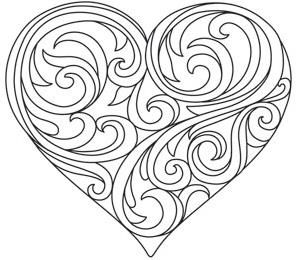 Baroque Natura Heart_image Pattern coloring pages