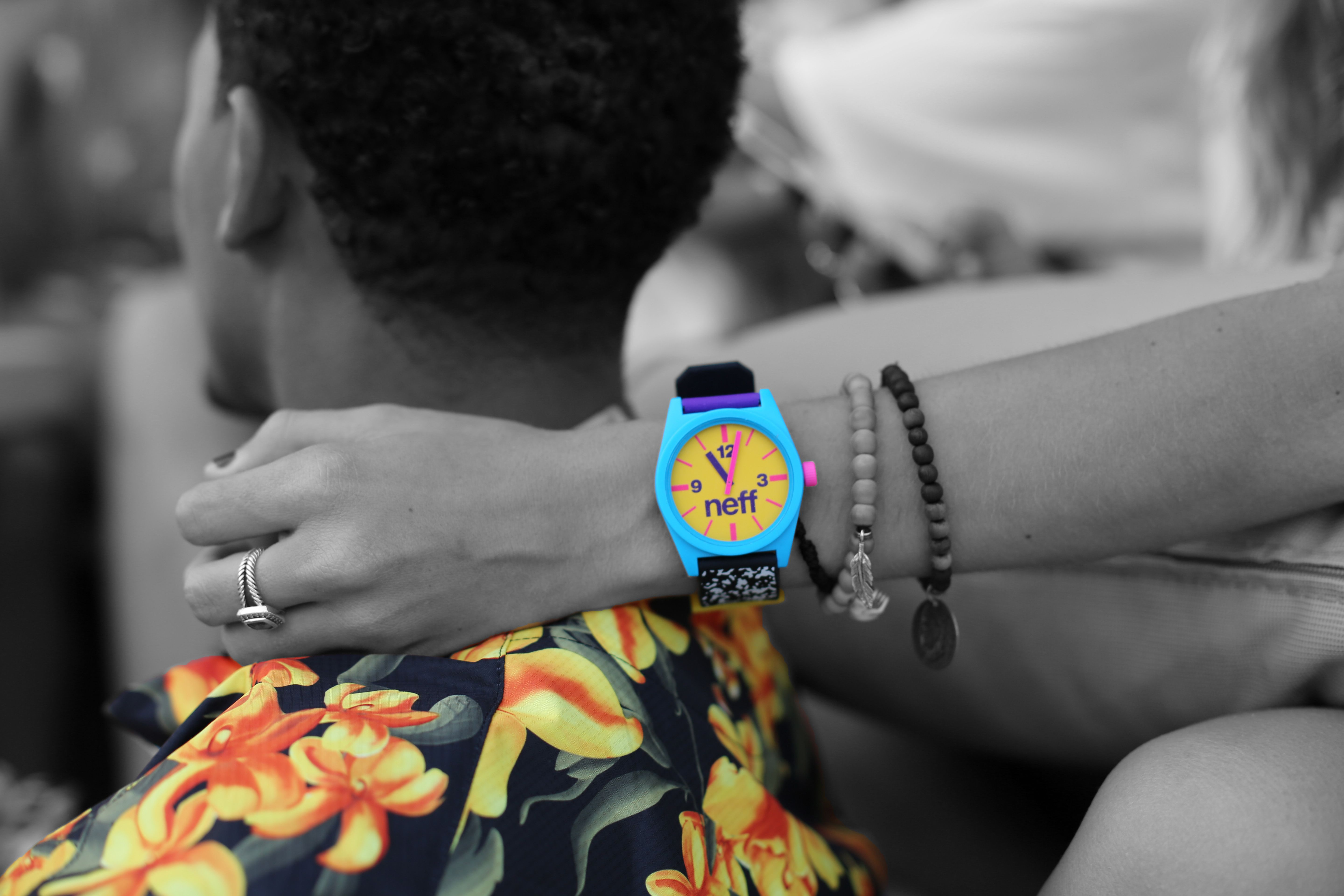 The daily watch and commando tee make the perfect combo neff